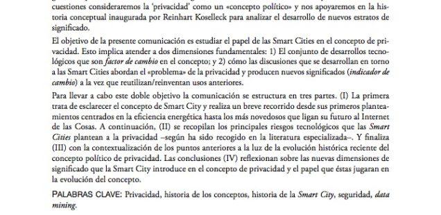 El papel de la Smart City en el concepto de privacidad