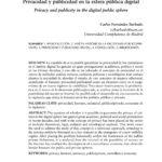 Privacidad y publicidad en la esfera pública digital